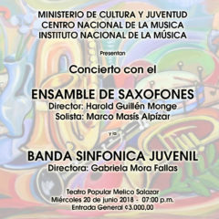 Ensamble de Saxofones y Banda Sinfónica Juvenil en concierto
