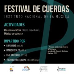 Instituto Nacional de la Música tendrá su Primer Festival de Cuerdas