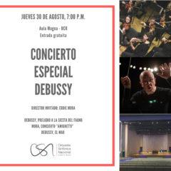 OSN debutará en el Aula Magna de la UCR con música del compositor Claude Debussy