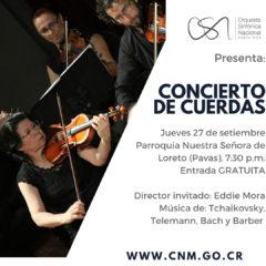¡Concierto de cuerdas gratuito! OSN tocará música de Tchaikovsky, Bach y Barber