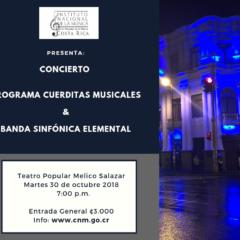 Cuerditas Musicales y Banda Sinfónica Elemental EN CONCIERTO