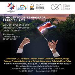 OSN se presenta en concierto con seis talentosos  Directores costarricenses