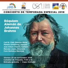 OSN y Coro Sinfónico Nacional presentarán el Réquiem Alemán en la Catedral de Alajuela con más de 160 artistas