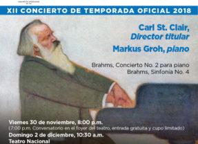 OSN culmina la temporada con dos conciertos junto al talentoso pianista Markus Groh