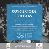 Solistas de la Orquesta Sinfónica Nacional serán los protagonistas en los conciertos de abril