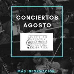 Grupos del Instituto Nacional de la Música brindarán  cinco conciertos gratuitos en agosto