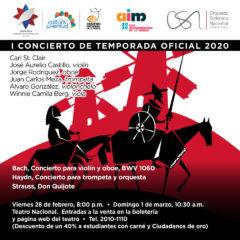 Orquesta Sinfónica Nacional inaugura la Temporada Oficial con cuatro solistas costarricenses y una cubana