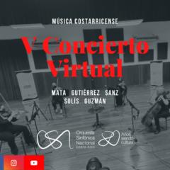 V Concierto de Temporada Virtual – Orquesta Sinfónica Nacional de Costa Rica (OSN).