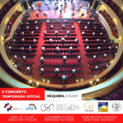 Orquesta Sinfónica y Coro Sinfónico Nacional dedican Réquiem de Gabriel Fauré a víctimas del COVID-19