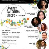 Jóvenes cantantes líricos presentan seis recitales en el Teatro Nacional