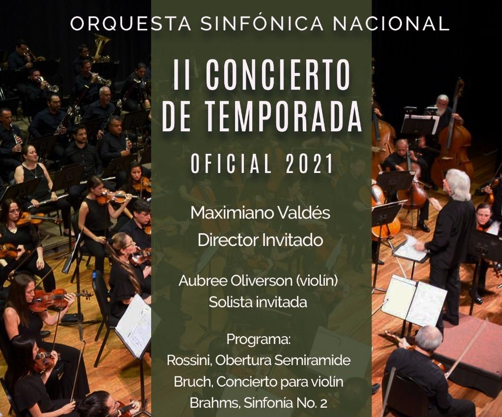 Orquesta Sinfónica Nacional graba un nuevo concierto junto a la talentosa violinista Aubree Oliverson